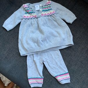 Knitted newborn set